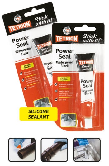 Tetrion Powerseal Clear & Black